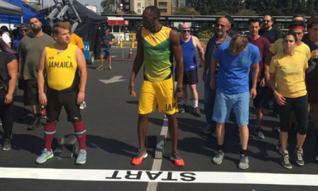 Usain Bolt vs James Corden and Owen Wilson